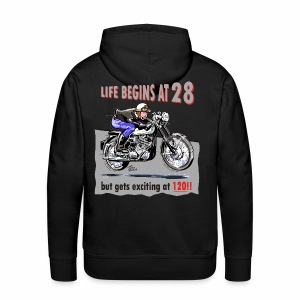 Life begins at 28 - Men's Premium Hoodie