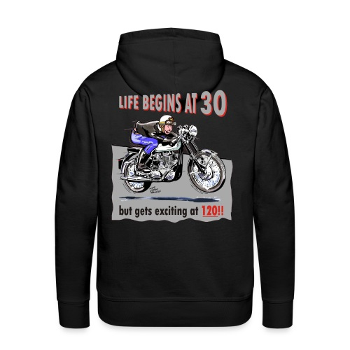 Life begins at 30 - Men's Premium Hoodie