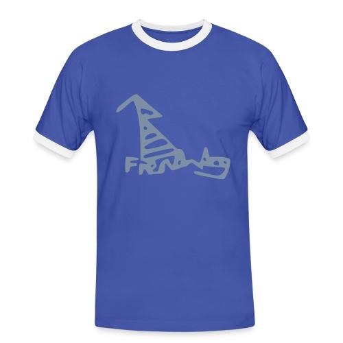 French Dog Men's Football Fan Shirt - Men's Ringer Shirt