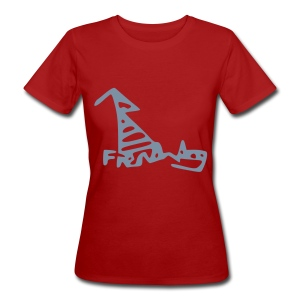 French Dog Women's Slim Fit Earth Positive T-shirt - Women's Organic T-shirt