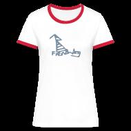 T-Shirts ~ Women's Ringer T-Shirt ~ French Dog Women's Contrast T-Shirt
