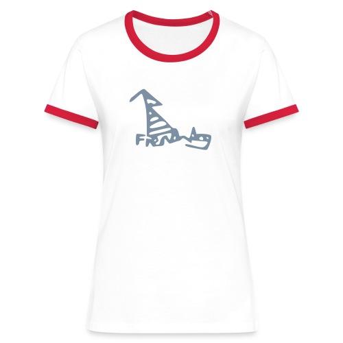 French Dog Women's Contrast T-Shirt - Women's Ringer T-Shirt