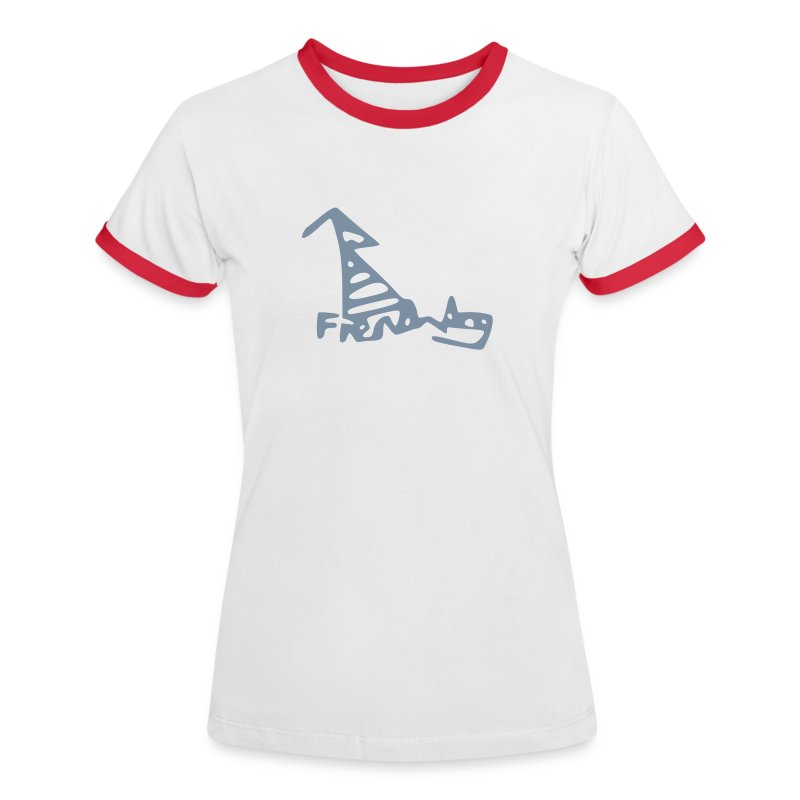French Dog Women's Contrast T-Shirt - Women's Ringer T-Shirt