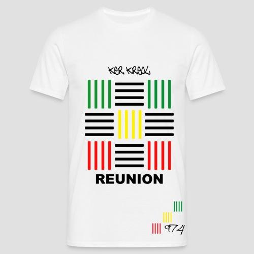 T-shirt Classique Homme PAV 974 ker kreol Réunion  - T-shirt Homme