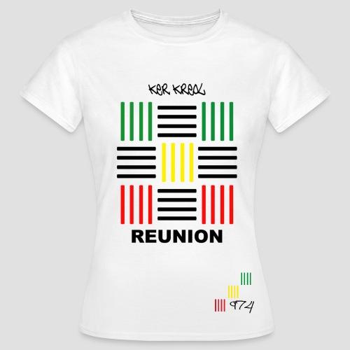 T-shirt Classique Femme PAV 974 ker kreol Réunion  - T-shirt Femme