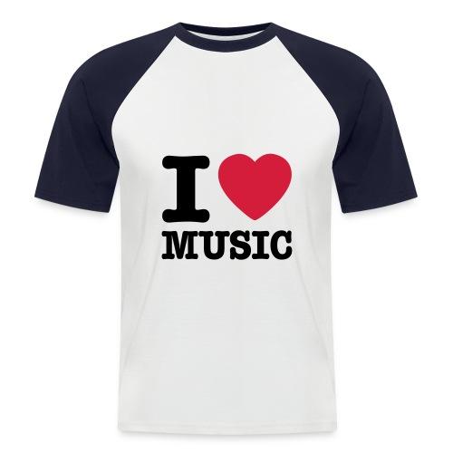 I love music - Mannen baseballshirt korte mouw