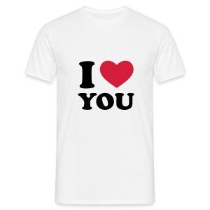 I love you - Mannen T-shirt