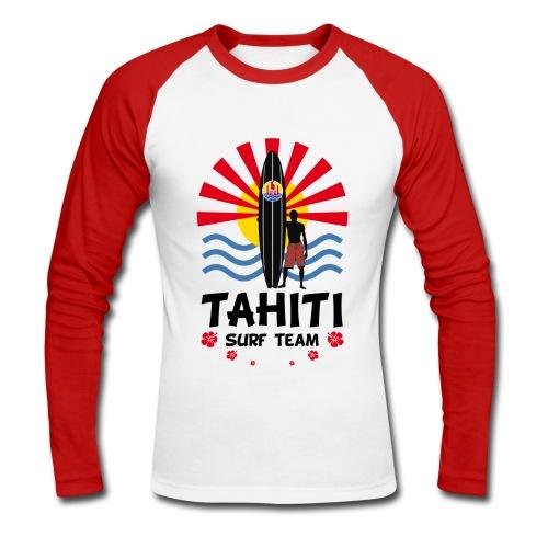 Tahiti surf team - T-shirt baseball manches longues Homme