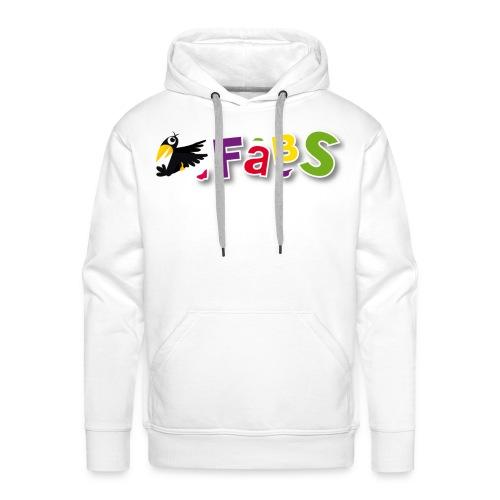 Fabs Männer Kapuzenpullover (nur in weiß) - Männer Premium Hoodie