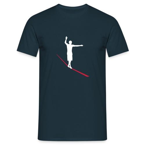 Red/White Slacker - Männer T-Shirt