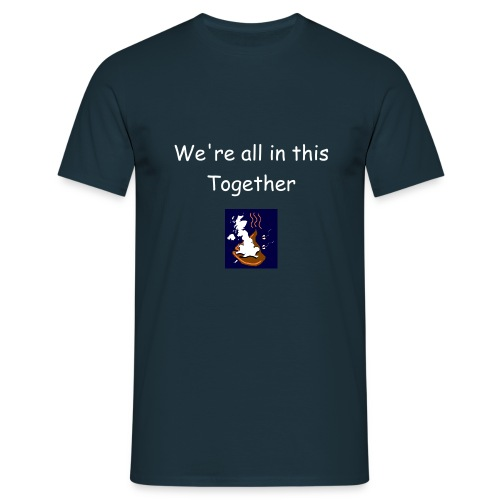 We're all in this together navy - Men's T-Shirt