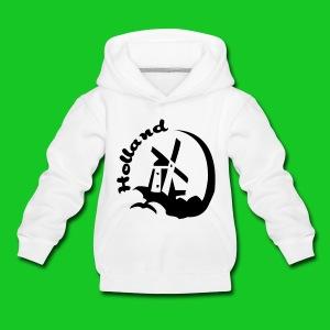 Holland Molen kindersweater grijs - Kinderen trui Premium met capuchon