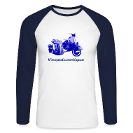 Long sleeve shirts ~ Men's Long Sleeve Baseball T-Shirt ~ side-car vespa