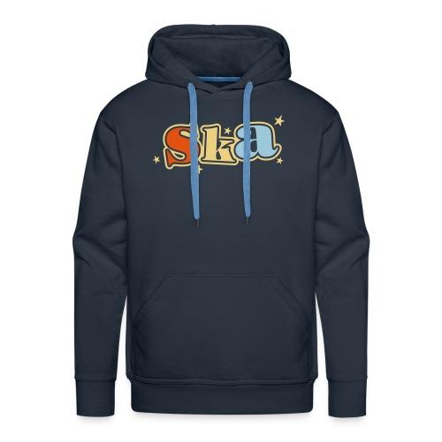 Ska-Kapuzenpullover mit Sternen 3 farbiger Druck - Männer Premium Hoodie