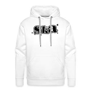Ska-Kapuzenpullover mit Sternen 1farbiger Druck - Männer Premium Hoodie