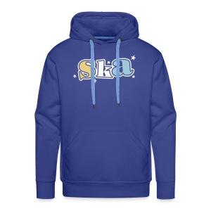 Ska-Kapuzenpullover mit Sternen 3farbiger Druck - Männer Premium Hoodie