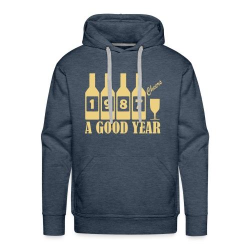 1987 Birthday sweatshirt - A Good Year - Men's Premium Hoodie