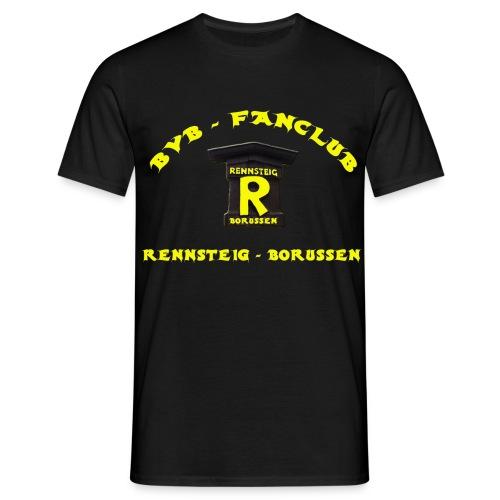 T-Shirt Mann Black Druck Vorne - Männer T-Shirt