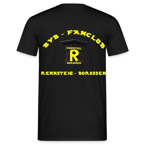 T-Shirt Mann Black Druck Hinten - Männer T-Shirt