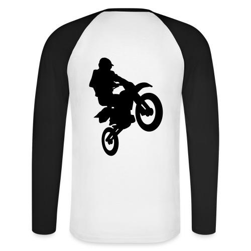Shirt Motorcross - Männer Baseballshirt langarm