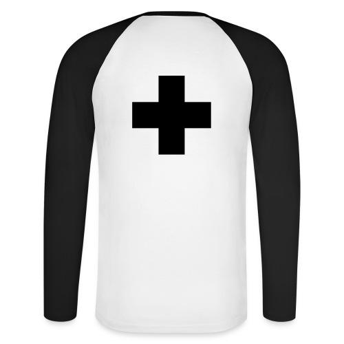 Shirt Kreuz - Männer Baseballshirt langarm