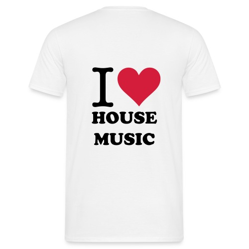 I Love House Music Shirt - Mannen T-shirt