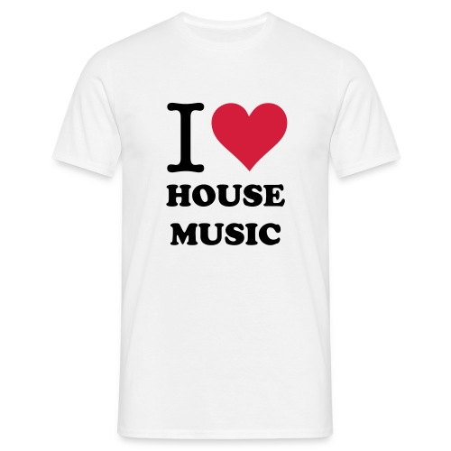I Love House Music Shirt Back - Mannen T-shirt