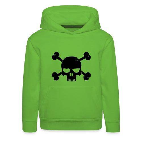 Hættetrøje m. dødningehovede. - Premium hættetrøje til børn