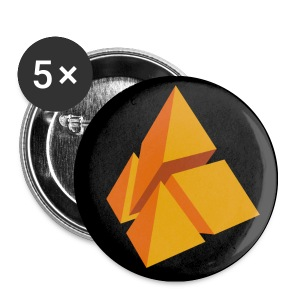 polyamke Button orange - Buttons small 25 mm