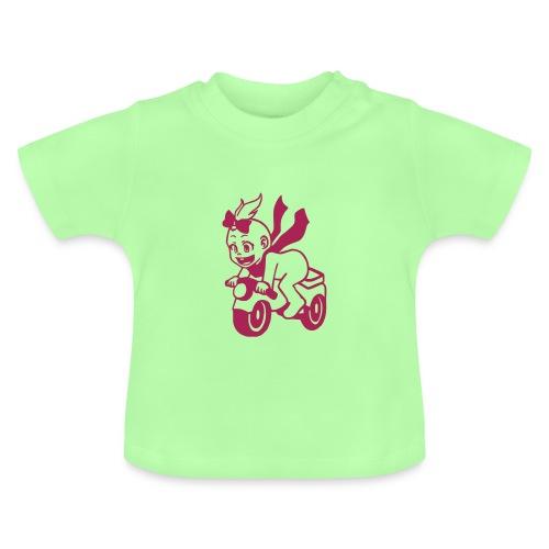 Baby T-Shirt für Mädchen - Baby auf Motorrad - Baby T-Shirt