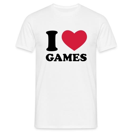 I love Games - Männer T-Shirt
