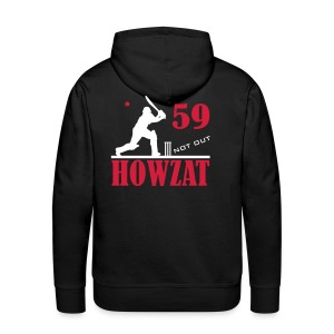 59 not out - HOWZAT!! - Men's Premium Hoodie