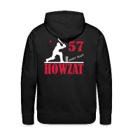 Hoodies & Sweatshirts ~ Men's Premium Hoodie ~ 57 not out - HOWZAT!!