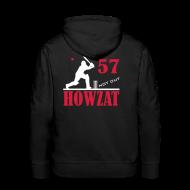 Hoodies & Sweatshirts ~ Men's Premium Hoodie ~ 57 not out - HOWZAT!!