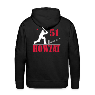 Hoodies & Sweatshirts ~ Men's Premium Hoodie ~ 51 not out - HOWZAT!!