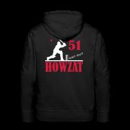 Hoodies & Sweatshirts ~ Men's Premium Hoodie ~ 51 not out - HOWZAT!!