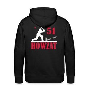 51 not out - HOWZAT!! - Men's Premium Hoodie