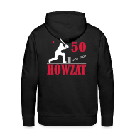 Hoodies & Sweatshirts ~ Men's Premium Hoodie ~ 50 not out - HOWZAT!!