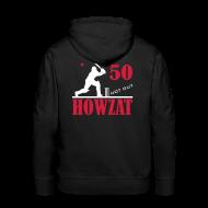 Hoodies & Sweatshirts ~ Men's Premium Hoodie ~ 50 not out - HOWZAT!!