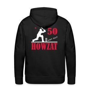 50 not out - HOWZAT!! - Men's Premium Hoodie