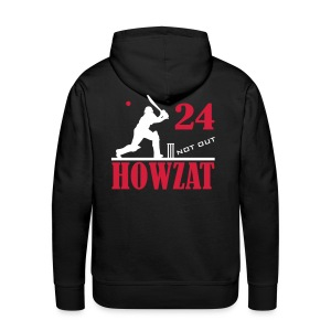 24 not out - HOWZAT!! - Men's Premium Hoodie