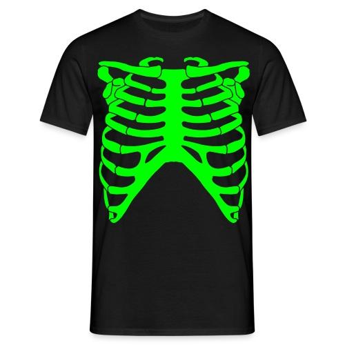 Neon Green X-Ray - Black - Men's T-Shirt