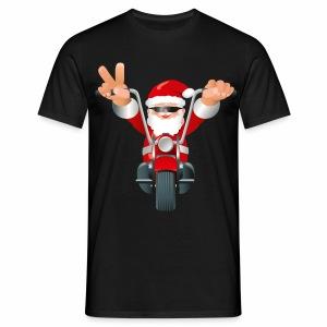 Biker Christmas - Men's T-Shirt