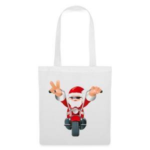 Biker Christmas Bag - Tote Bag