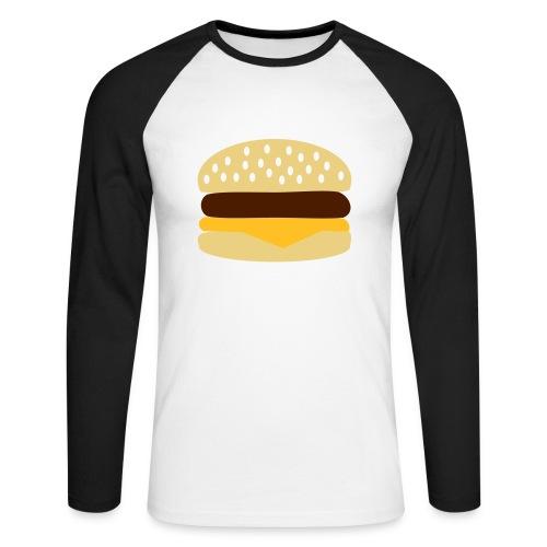 Hamburger. - Mannen baseballshirt lange mouw