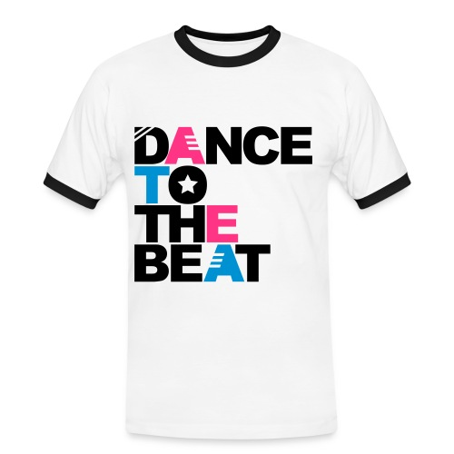 dance to the beat white - T-shirt contrasté Homme