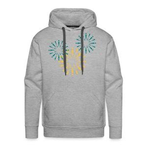 Vuurwerk Sweater 2 kanten bedrukt - Mannen Premium hoodie