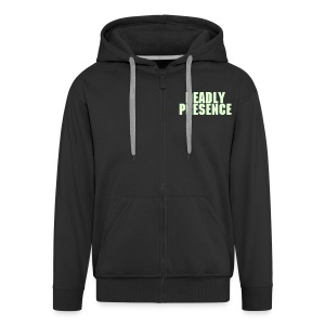 SPARKIN' ALL DAY GLOW IN DARK TEXT HOODY - Men's Premium Hooded Jacket