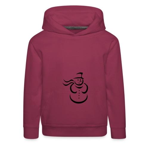 Schneemann-Pullover - Kinder Premium Hoodie
