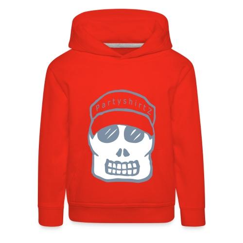 Skull met pet capuchontrui kids - Kinderen trui Premium met capuchon